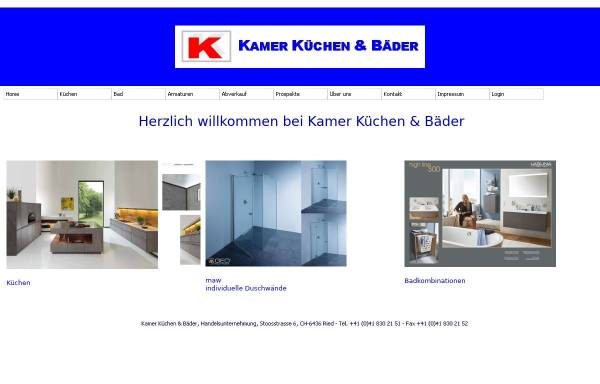 Vorschau von www.kamer-kuechen.ch, Kamer Küchen und Bäder