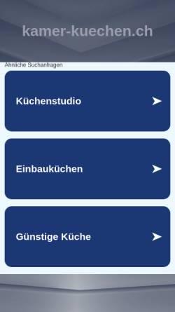 Vorschau der mobilen Webseite www.kamer-kuechen.ch, Kamer Küchen und Bäder