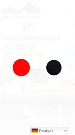 Vorschau der mobilen Webseite www.devicetrading.ch, devICe Trading Co. GmbH