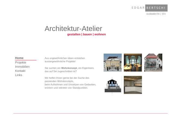 Vorschau von www.bertschi-architektur.ch, Edgar Bertschi Architektur Atelier
