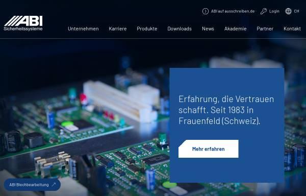 Vorschau von abi-sicherheitssysteme.de, ABI Sicherheitssysteme AG