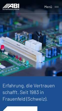 Vorschau der mobilen Webseite abi-sicherheitssysteme.de, ABI Sicherheitssysteme AG