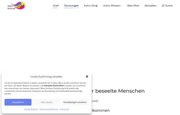 Vorschau von www.astroschmid.ch, Peter Schmid, philosophische Astrologie