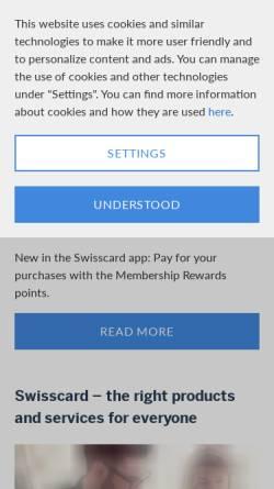 Vorschau der mobilen Webseite www.swisscard.ch, Swisscard AECS AG