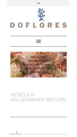 Vorschau der mobilen Webseite doflores.ch, Doflores Blumengeschäft
