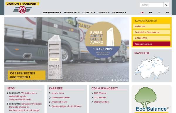 Vorschau von www.camiontransport.ch, Camion Transport AG