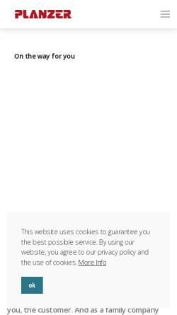 Vorschau der mobilen Webseite www.planzer.ch, Planzer Transport AG