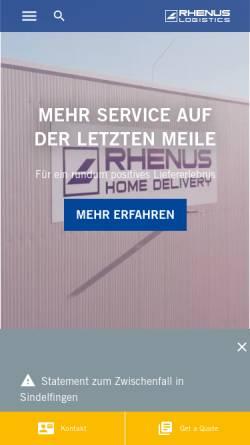 Vorschau der mobilen Webseite www.rhenus.com, Rhenus AG & Co. KG