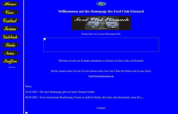 Vorschau von www.fordclubeisenach.de, Ford Club Eisenach