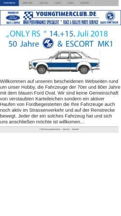 Vorschau der mobilen Webseite www.youngtimerclub.de, Ford Youngtimer Club Rheingau