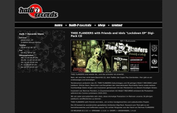 Vorschau von www.halb7records.de, Halb 7 Records