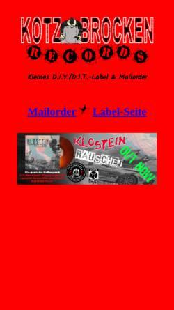Vorschau der mobilen Webseite www.kotzbrocken-info.de, Kotzbrocken