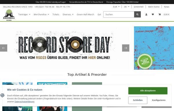 Vorschau von www.greenhell.de, Green Hell Records