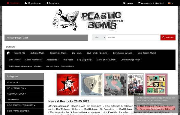 Vorschau von www.plasticbombshop.de, Plastic Bomb Shop