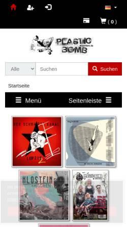 Vorschau der mobilen Webseite www.plasticbombshop.de, Plastic Bomb Shop
