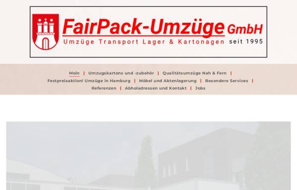 Vorschau von www.fairpack-hamburg.de, FairPack-Umzüge GmbH
