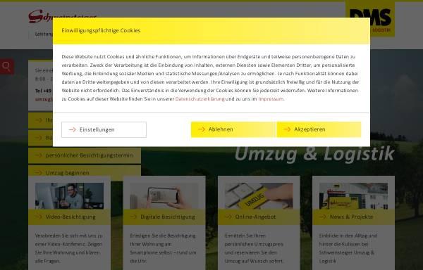 Vorschau von www.schweinsteiger.com, A bis Z Schweinsteiger Umzüge GmbH