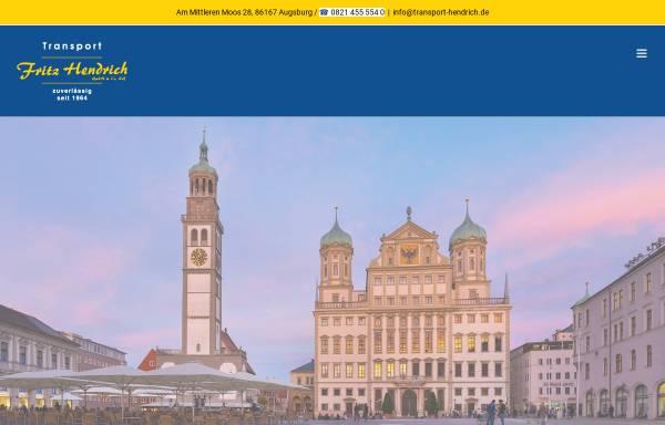 Vorschau von www.umzug-hendrich.de, Fritz Hendrich GmbH & Co.
