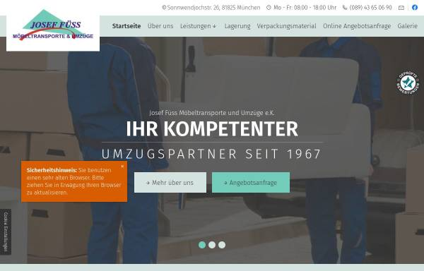 Vorschau von www.fuess-umzug.de, Füss, Josef