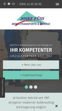 Vorschau der mobilen Webseite www.fuess-umzug.de, Füss, Josef