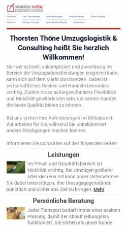 Vorschau der mobilen Webseite www.umzugs-consulting.com, Thöne, Thorsten