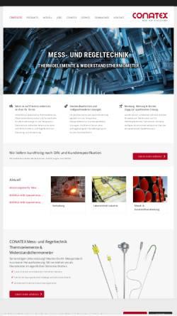 Vorschau der mobilen Webseite www.conatex.de, Conatex Dipl.-Ing. Ludwig Colbus GmbH