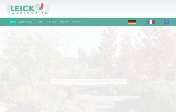 Vorschau von www.leick.de, Leick Baumschulen Gartengestaltung Ballern
