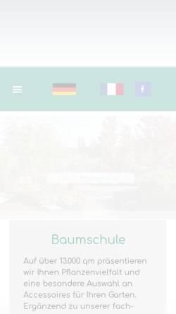 Vorschau der mobilen Webseite www.leick.de, Leick Baumschulen Gartengestaltung Ballern