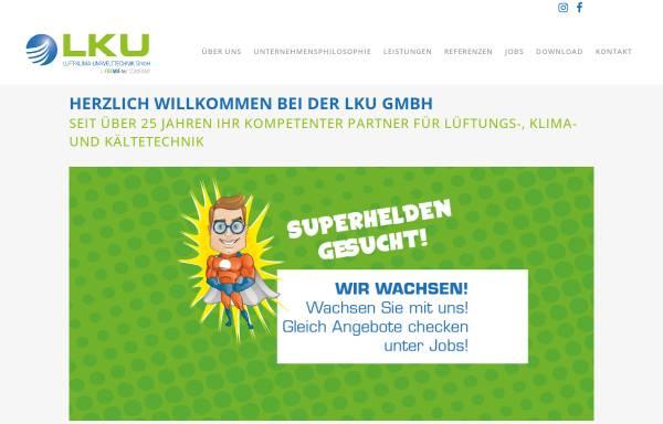 Vorschau von www.lku.de, LKU Luft Klima Heizungstechnik GmbH Mechern