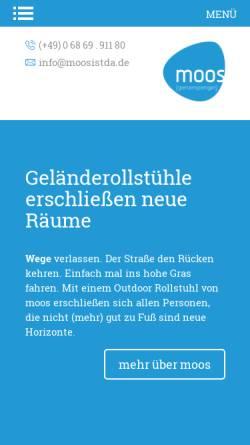 Vorschau der mobilen Webseite www.moosistda.de, Moos Entsorgung GmbH Wellingen