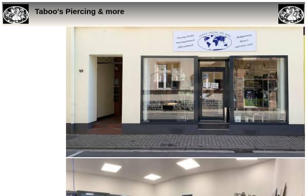 Vorschau von www.taboos-piercing.de, Taboos Piercing Jürgen Clemens