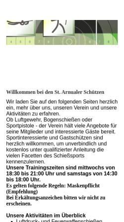 Vorschau der mobilen Webseite www.schuetzen-st-arnual.de, Schützenverein St. Arnual e.V.