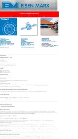 Vorschau der mobilen Webseite www.eisen-marx.de, Eisen-Marx GmbH Klarenthal