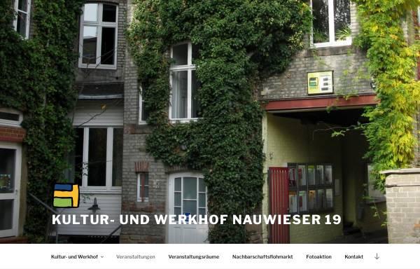 Vorschau von www.nauwieser19.de, Nauwieser-19 Kultur- und Werkhof e.V.