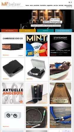 Vorschau der mobilen Webseite www.hifibelzer.de, hifibelzer, Inh. Markus Belzer