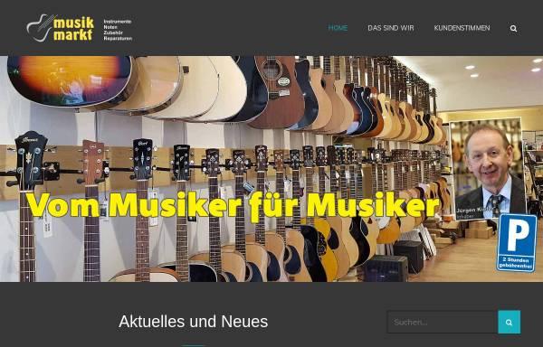 Vorschau von musikmarktsaar.de, Musik Markt Kiefer e.K.