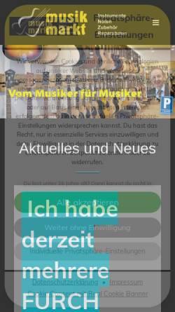 Vorschau der mobilen Webseite musikmarktsaar.de, Musik Markt Kiefer e.K.