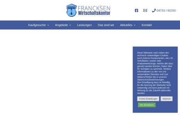 Vorschau von www.francksen.com, Francksen Wirtschaftskontor