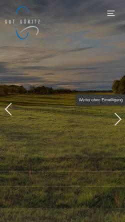 Vorschau der mobilen Webseite www.gut-goeritz.de, Gut Göritz