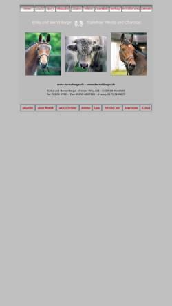 Vorschau der mobilen Webseite www.bernd-berge.de, Trakehner und Charolais Zucht Erika und Bernd Berge