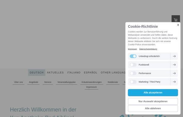 Vorschau von www.kur-apotheke-bad-aibling.de, Kur-Apotheke