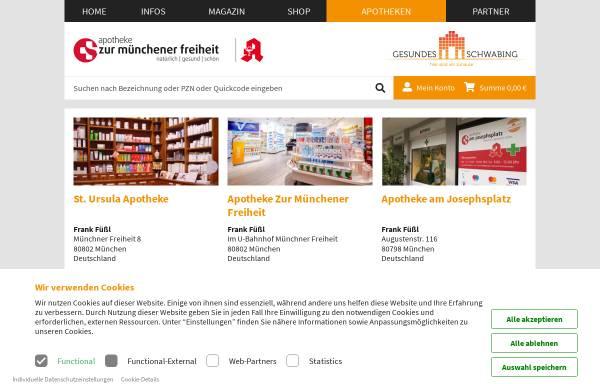 Vorschau von www.apotheke-zmf.de, Apotheke zur Münchener Freiheit