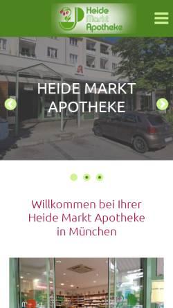 Vorschau der mobilen Webseite www.apomuc.de, Heide-Markt-Apotheke
