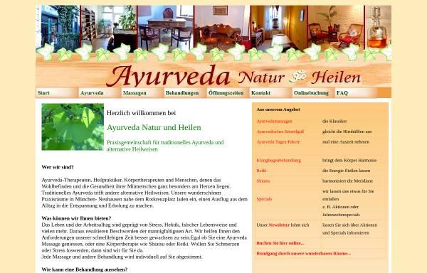 Vorschau von www.ayurveda-muenchen.de, Ayurveda Zentrum München