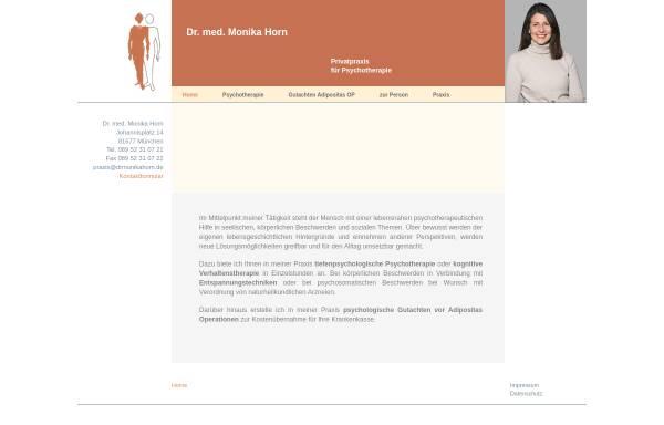 Vorschau von www.drmonikahorn.de, Naturheilverfahren - Dr. Monika Horn