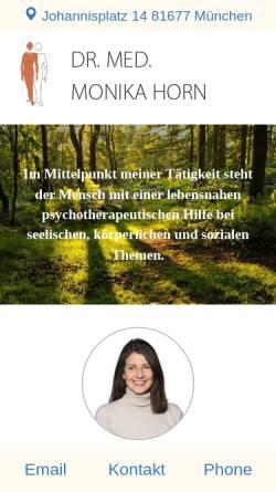 Vorschau der mobilen Webseite www.drmonikahorn.de, Naturheilverfahren - Dr. Monika Horn