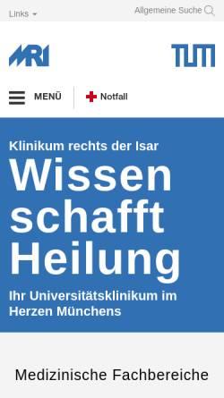 Vorschau der mobilen Webseite www.mri.tum.de, Rechts der Isar (TUM)