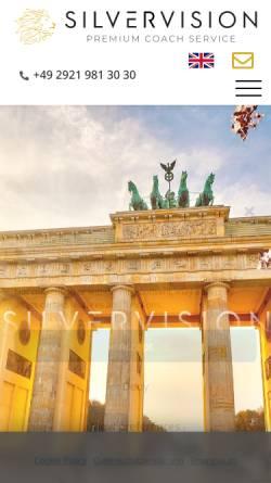 Vorschau der mobilen Webseite www.silvervision.de, Silvervision - Luxusbusse