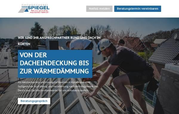 Vorschau von www.dachdecker-spiegel.de, Dachdeckermeister Norbert Spiegel