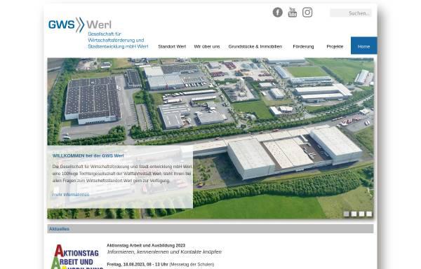 Vorschau von www.gws-werl.de, Gesellschaft für Wirtschaftsförderung und Stadtentwicklung mbH Werl